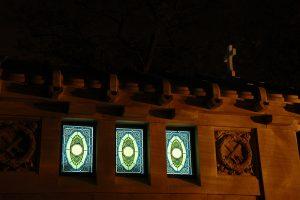 Walla Kripta festett üvegablakok